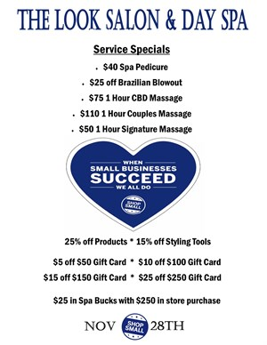 Small Business Saturday Specials!